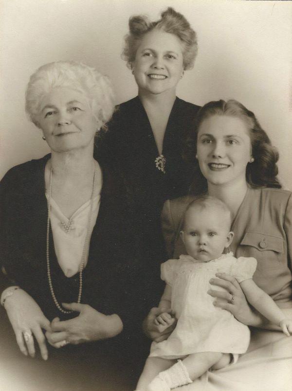 Great Grandmother Nella Seymour, Grandmother Floi Tyler, My Mother Katharine Grey, Meredith Eastwood