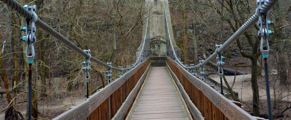Turkey Run Foot Bridge - Photo by Meredith Eastwood
