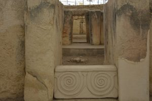 Double Spiral Image from One of Malta's Neolithic Temples