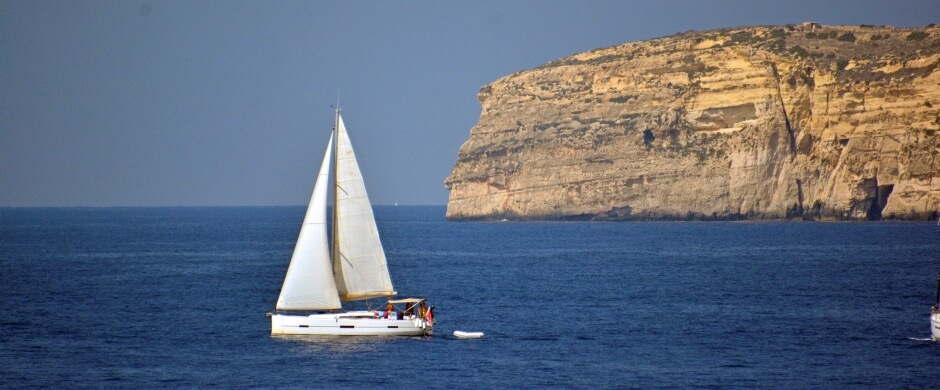 Off the Coast of Gozo, Malta - Photo by Meredith Eastwood