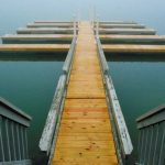 Interestingly shaped dock, photo by Meredith Eastwood
